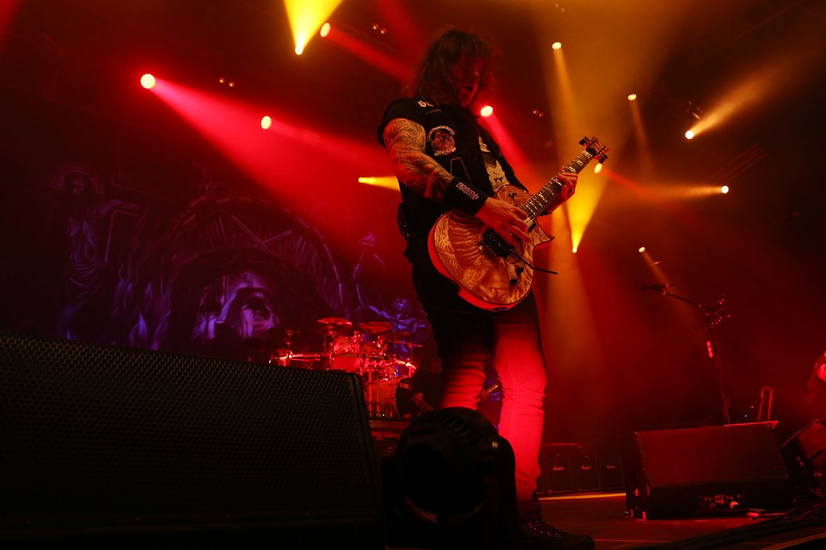 Slayer at Live at the Marquee last Wednesday. Picture: Miki Barlok